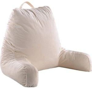 READING AND TV PILLOW WITH REMOVABLE MICROPLUSH